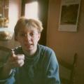 Antje (24), verkündet Entscheidungen. Aufnahme von 1988.