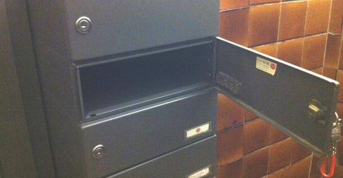 Mein schöner leerer Briefkasten.