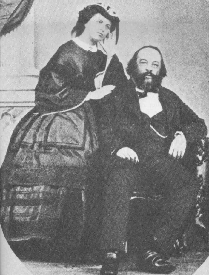 Antonia und Michel Bakunin.