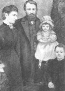 Victoria Woodhull mit ihrem ersten Mann und Kindern - hinter der Fassade der bürgerlichen Ehe ging es aber teilweise dramatisch zu.