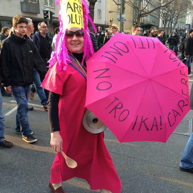 Care-Revolution bei der Blockupy-Demo am 18. März in Frankfurt.